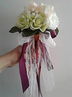 Букет дублер з білими трояндами