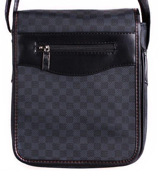 Мужская сумка из кожзаменителя 302642,  мужская серая