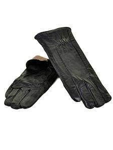Перчатка Женская кожа F24/17 мод8 black шерсть