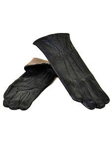 Перчатка Женская кожа F24/17 мод9 black шерсть