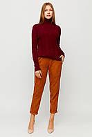 Женский тонкий бордовый свитер, фото 1