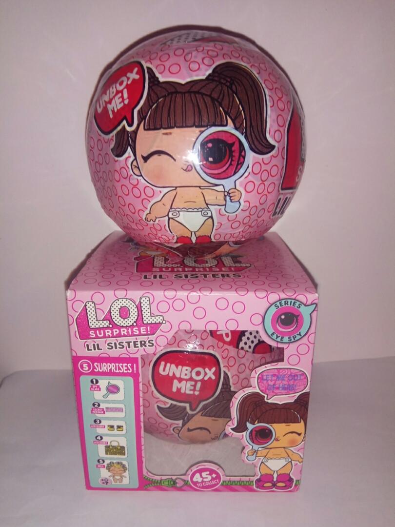 L.O.L. Кукла Surprise LIL SISTERS в шаре 45+  маленькие сестрички