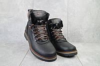 Ботинки мужские Zangak 139 ч-крек  (натуральная кожа, зима)