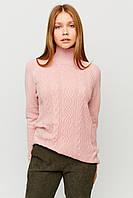 Тонкий женский персиковый свитер, фото 1