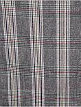 Серый женский палантин в  клетку 188 х 70 см, фото 5