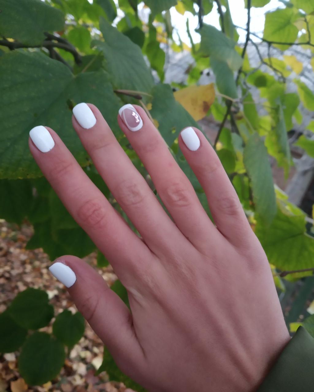 Новинка Ultra White гель-лак белее-белого City Nail №73 Гель-лак белый для френча Плотный насыщенный гель-лак