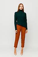 Женский темно-зеленый трикотажный свитер, фото 1