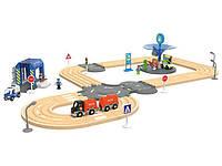 Дорожный набор для деревянной железной дороги 3,15м 40 элементов Playtive Junior