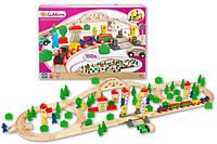 Детская деревянная железная дорога Eichhorn 100 элеметов 4,05м