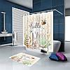 Штора занавеска для ванной Зайчик 180 х 180 см, фото 3