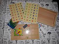 Деревян. KXM-608 изучаем счет, счетн.палочки, цифры в коробке, фото 1