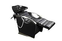 Парикмахерская кресло- мойка + электро регулировка спинки + подножка E043