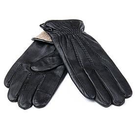 Перчатка Мужская кожа M21/19-1 мод1 black шерсть