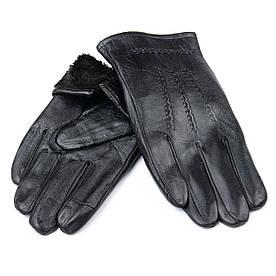 Рукавичка Чоловіча шкіра M21/19-2 мод4 black шерсть