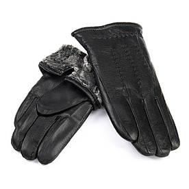 Рукавичка Чоловіча шкіра M24/19 мод4 black хутро сірий