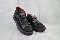 Ботинки мужские Zangak 903 ч-н+красн  (натуральная кожа, зима)