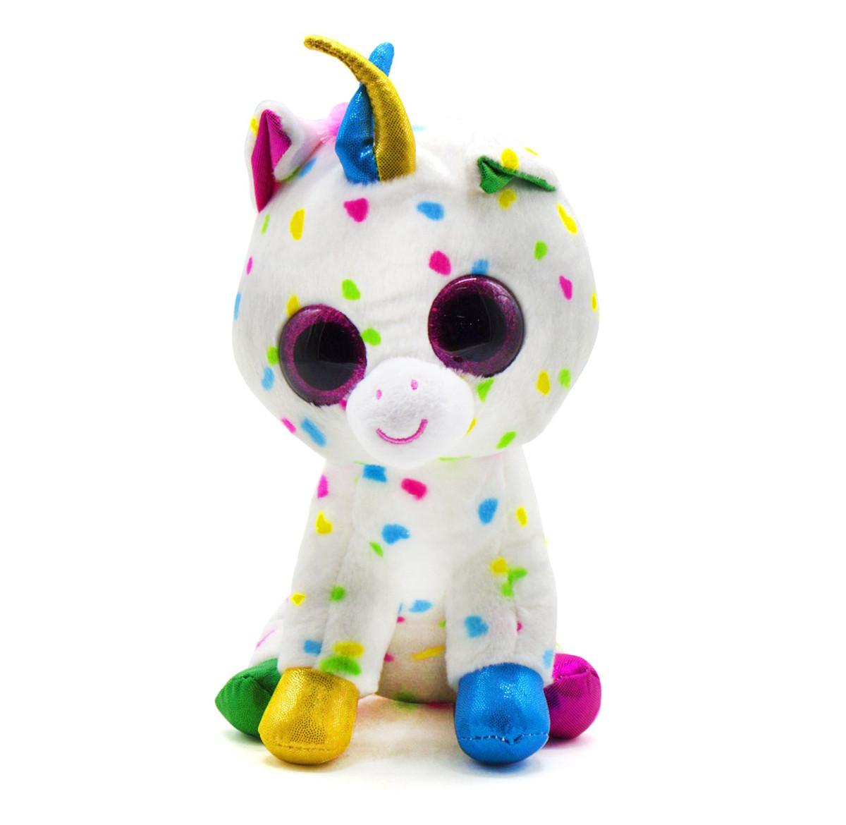 Мягкая игрушка Глазастик: Единорог, 24 см (белый)
