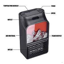 Портативный мини Обогреватель Flame Heater 500W с пультом, фото 3