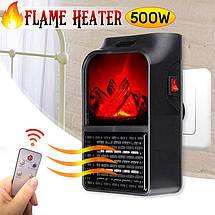 Портативный мини Обогреватель Flame Heater 500W с пультом, фото 2