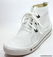 Ботинки женские кроссовки женские белые Romika 14404