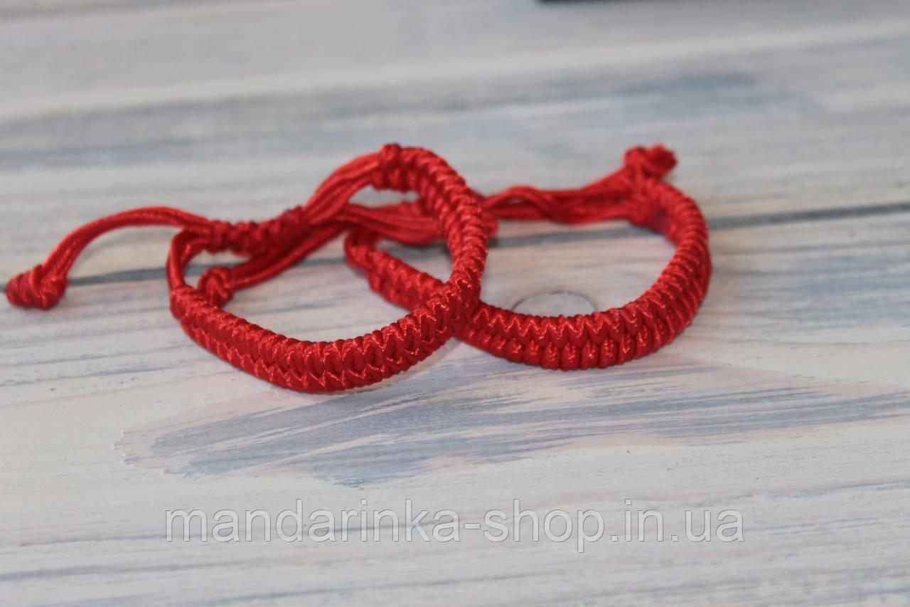 Плетений браслет червоний