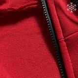Мужское утепленное спортивное худи Puma (red), утепленное худи Пума, красное худи пума, фото 3