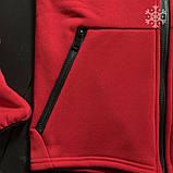 Мужское утепленное спортивное худи Puma (red), утепленное худи Пума, красное худи пума, фото 4