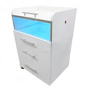 Косметологическая тележка с ультрафиолетовой лампой
