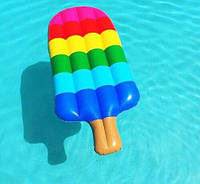 Надувной матрас для плаванья разноцветное мороженое