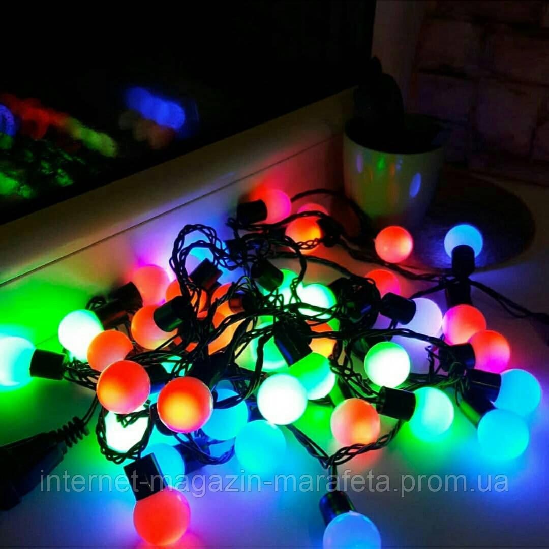 """Гирлянда """"Шарики"""" 200 LED ламп~ цветные"""