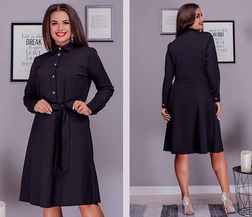 Стильне плаття сорочка великого розміру, фото 2