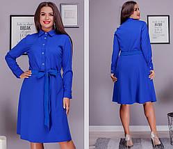 Стильное платье рубашка большого размера, фото 3