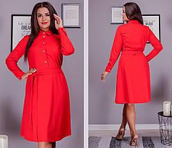 Стильне плаття сорочка великого розміру, фото 3