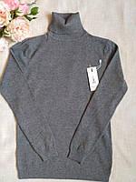 Серый гольф женский шерстяной с высоким горлом и манжетами S \ XL 40 42 44 46 48 водолазка женская серая