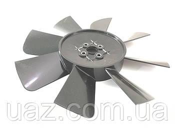 Вентилятор УАЗ (крильчатка ПЛАСТИК, 8 лопатей)