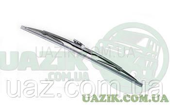 Щітка склоочисника УАЗ 452 чорна (під вузький ремінець)1ШТ.