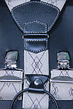 Подтяжки песочного цвета с классическим узором, фото 2