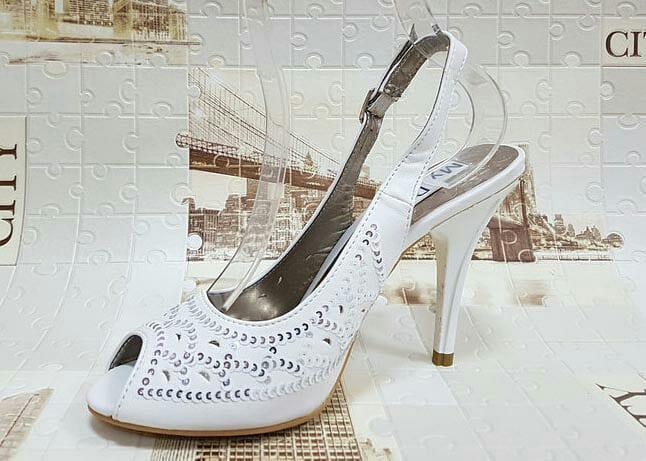Туфли женские лето белые