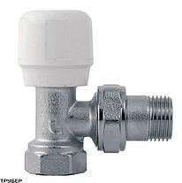 Кран (подача) для радиатора угловой 1/2 -  STA