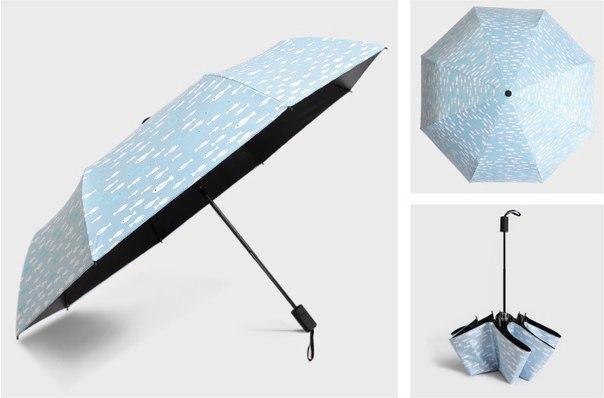 Складной зонтик с рибками