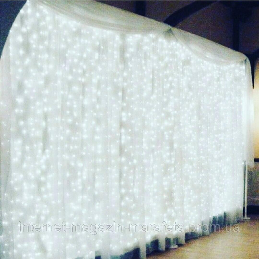 """Гирлянда """"Штора"""" 3 м*3 м, прозрачный провод, 480 LED LF-PP-WW/ холодный белый, теплый белый, синий"""