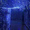 "Гирлянда ""Штора"" 3 м*3 м, прозрачный провод, 480 LED LF-PP-WW/ холодный белый, теплый белый, синий, фото 3"