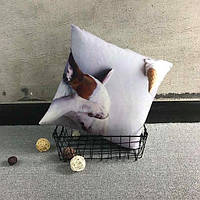 Подушка с милым бультерьером