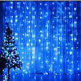 "Гирлянда ""Штора"" 3 м*3 м, прозрачный провод, 480 LED LF-PP-WW/ холодный белый, теплый белый, синий, фото 2"