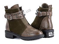 """Ботинки демисезонные детские """"Violeta"""" #207-1 army green. р-р 31-36. Цвет хаки. Оптом"""