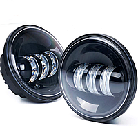 Протитуманні світлодіодні фари 4,5 дюйма (LED)  DL-J045F, Jeep, Harley, Custom Motocycles