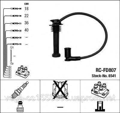 Комплект проводов зажигания NGK 8541 на Ford C-MAX / Форд C-MAX