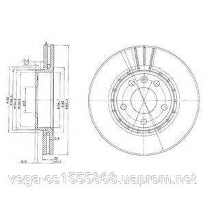 Тормозной диск Delphi BG3768 на Opel Vivaro / Опель Виваро