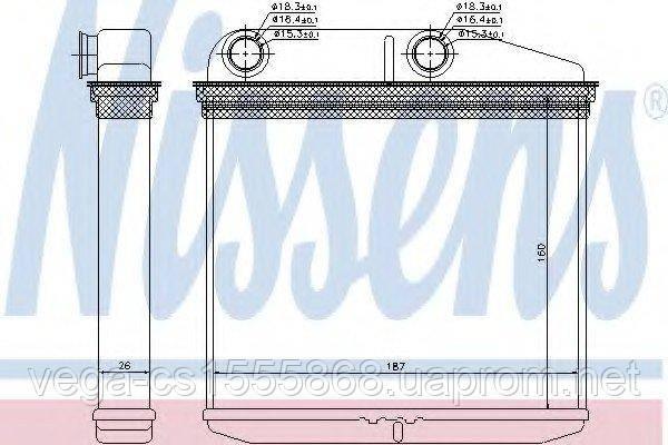 Радиатор печки Nissens 71456 на Opel Combo / Опель Комбо