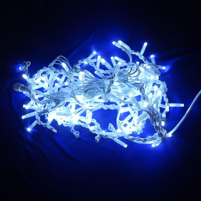 Гирлянда уличная Бахрома, 140 led, белая, белый провод, 3м.